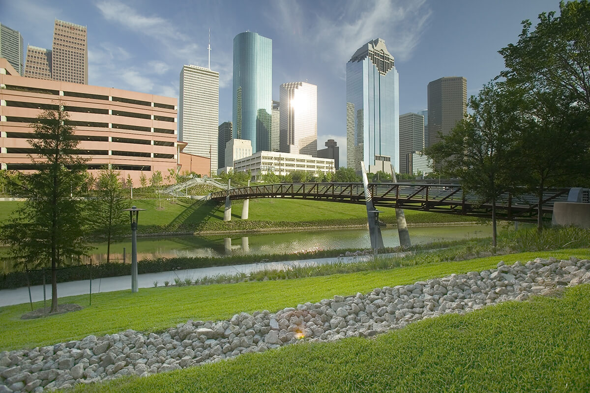 Buffalo Bayou Trail; Credit Visit Houston